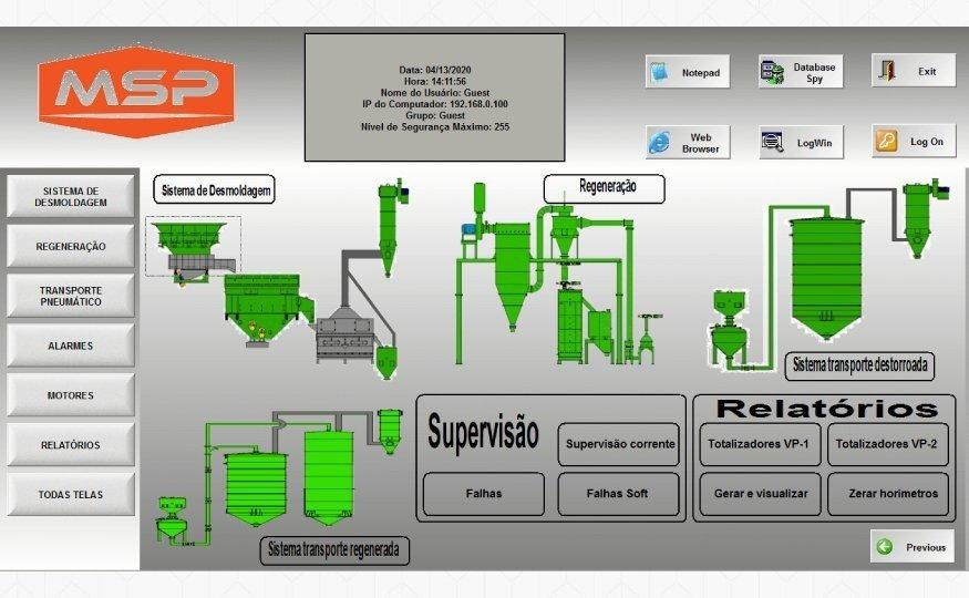Sobre o <em> Sistema supervisório </em>